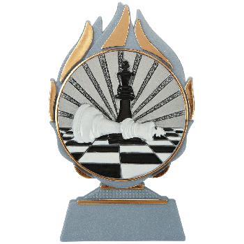 Vlammen trofee schaken
