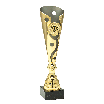 Fluted trofee goud-mat zilver