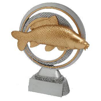 Zilver-goud vissport beeld