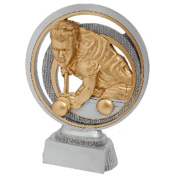 Zilver-goud biljart beeld