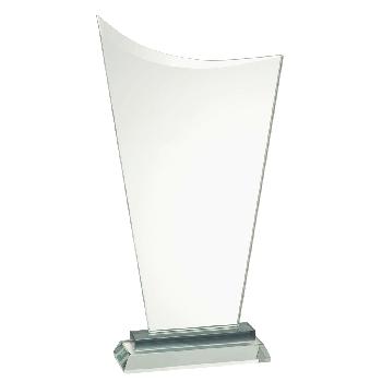 Glasstandaard met schuine bovenkant