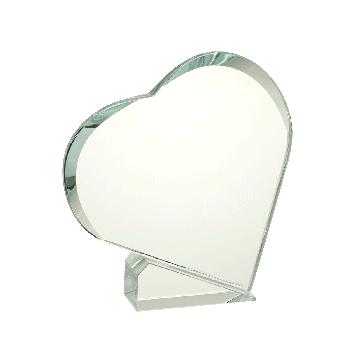 Hartvormige glasstandaard