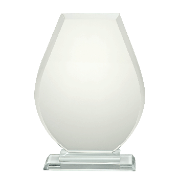 Glasstandaard met ronde vorm, incl. gratis etui