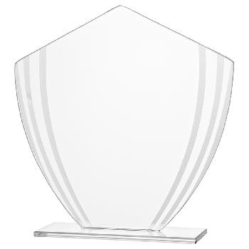 Glazen standaard met matglazen strepen
