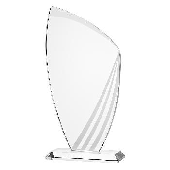 Glazen standaard met 3 matte strepen