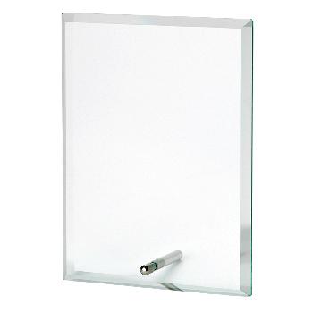 Rechthoekige glasstandaard met pinnetje