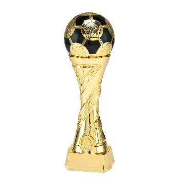 Gouden voetbal trofee met extra gewicht!