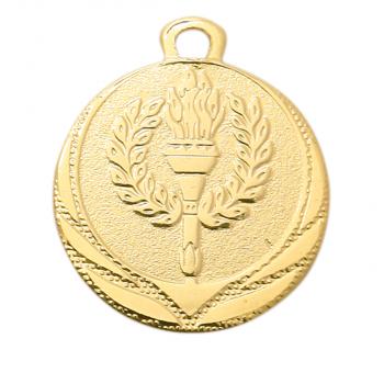 Medaille met fakkel