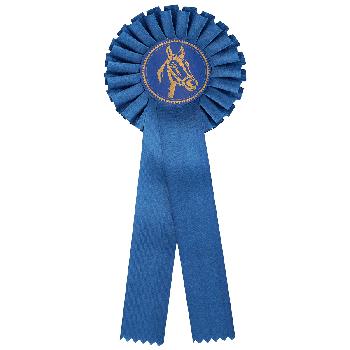 Rozet blauw paardensport