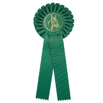 Rozet groen paardensport