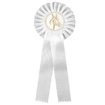 Rozet wit paardensport