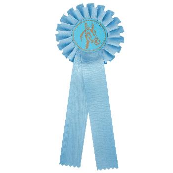 Rozet lichtblauw paardensport