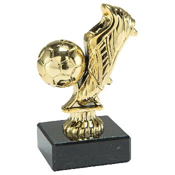 Gouden voetbalschoen met bal
