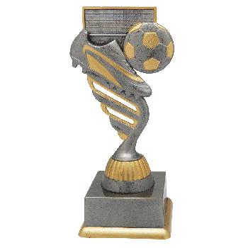 Antiek zilveren voetbal standaard 2