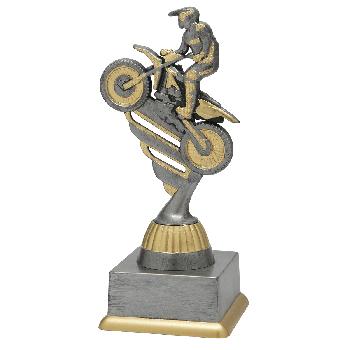 Antiek zilveren motorcross standaard