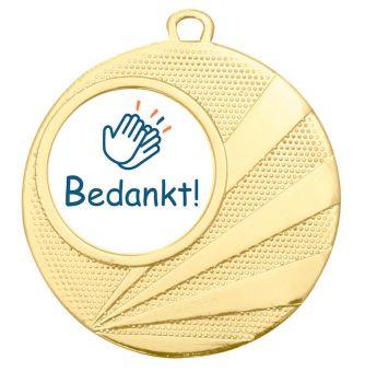 Grote medaille Bedankt – 50mm