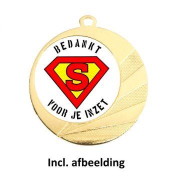 Medaille held 70mm goud