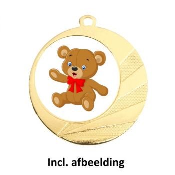 Medaille beren speurtocht 70mm goud