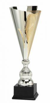 Grote zilver met gouden fluted trofee