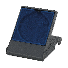 Medailledoosje blauw (diam. 70mm)