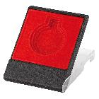 Medailledoosje rood (diam.40/45/50mm)
